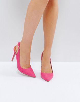 River Island Slingback Heeled Court Shoes