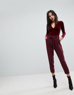 Image 1 of River Island Soft Tapered Trousers