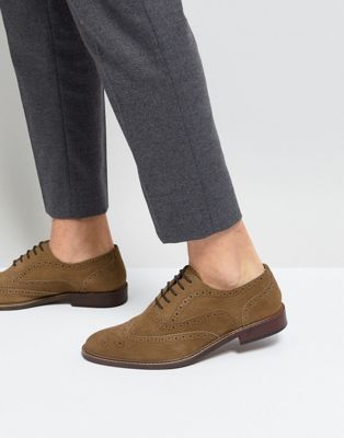 River Island Suede Brogues In Tan