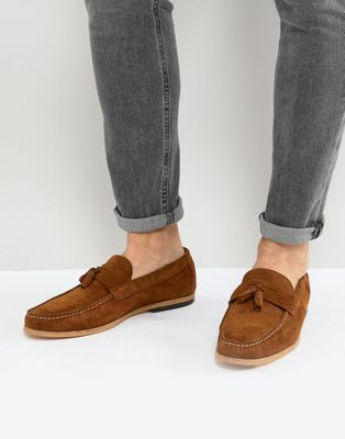 River Island Suede Loafer In Tan