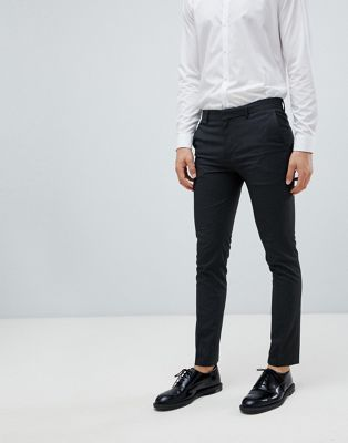 River Island super skinny smart trousers in grey