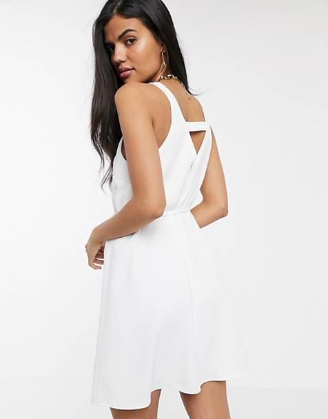 River Island swing dress in white