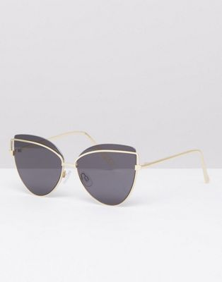 River Island tinted lensed cat eye sunglasses
