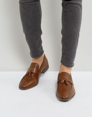 River Island Woven Loafer With Tassels In Tan