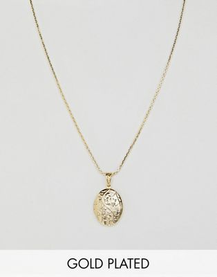 Rock N Rose Gold Plated Floral Locket Pendant