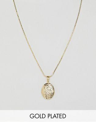 Rock N Rose – Vergoldete Halskette mit Blumen-Anhänger