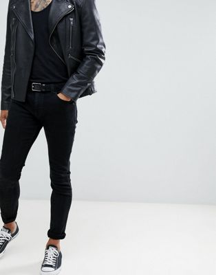 Bild 1 von Rollas – Stinger – Enge Jeans in Schwarzgold