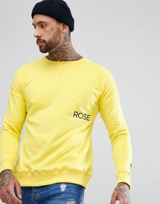 Rose London Drop Shoulder Sweatshirt In Yellow