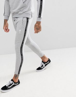 Rose London Logo Skinny Joggers With Side Stripe