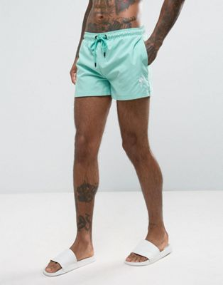 Rose London Swim Shorts In Blue With Logo