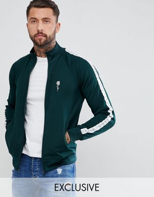 Rose London Track Jacket In Green Exclusive To ASOS