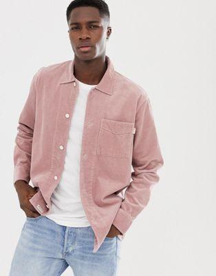 Розовая вельветовая рубашка навыпуск Jack Wills Berton