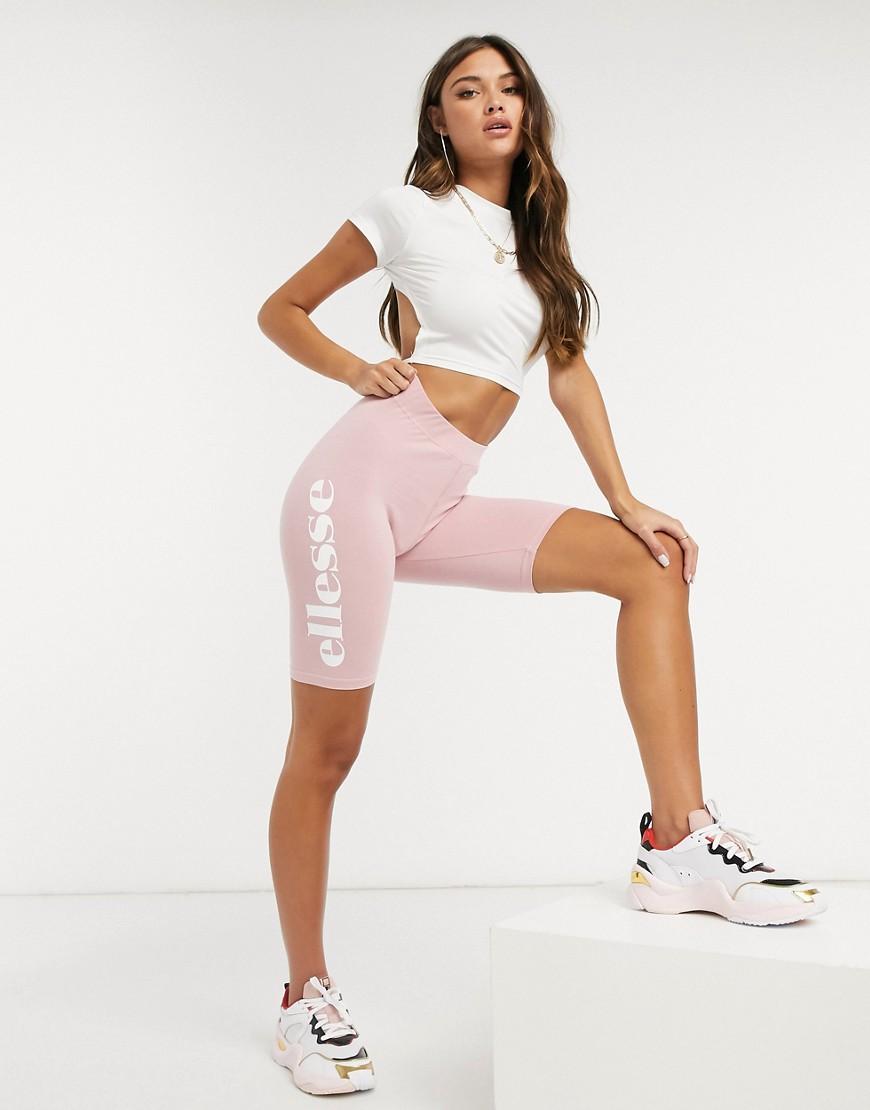 Розовые леггинсы-шорты ellesse-Розовый