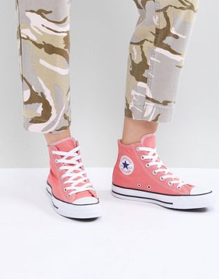 Розовые высокие кеды Converse Chuck Taylor