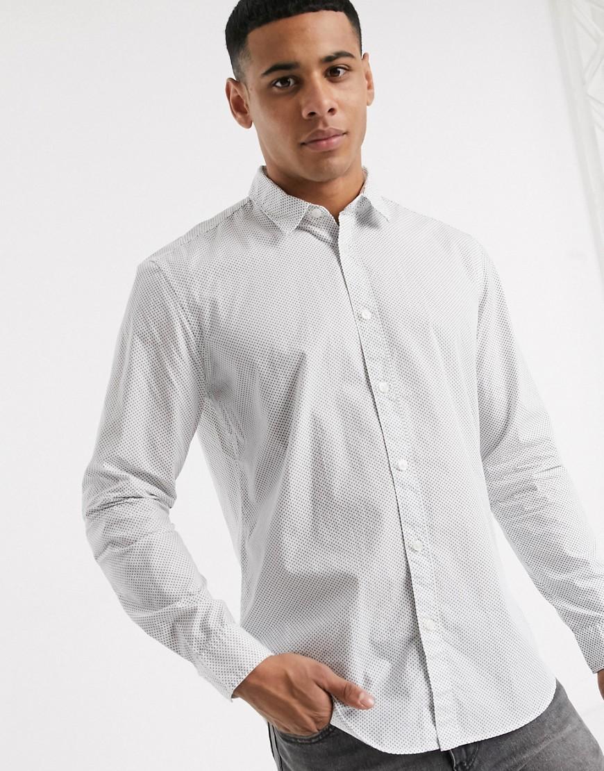 Рубашка с длинными рукавами и цветочным принтом Esprit-Белый