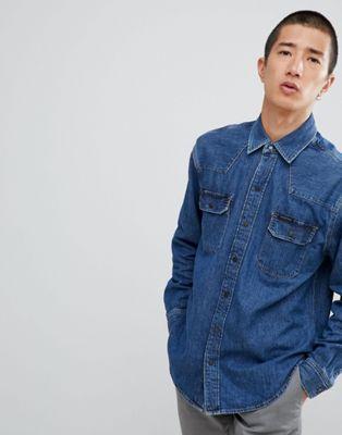 Рубашка в стиле вестерн Calvin Klein