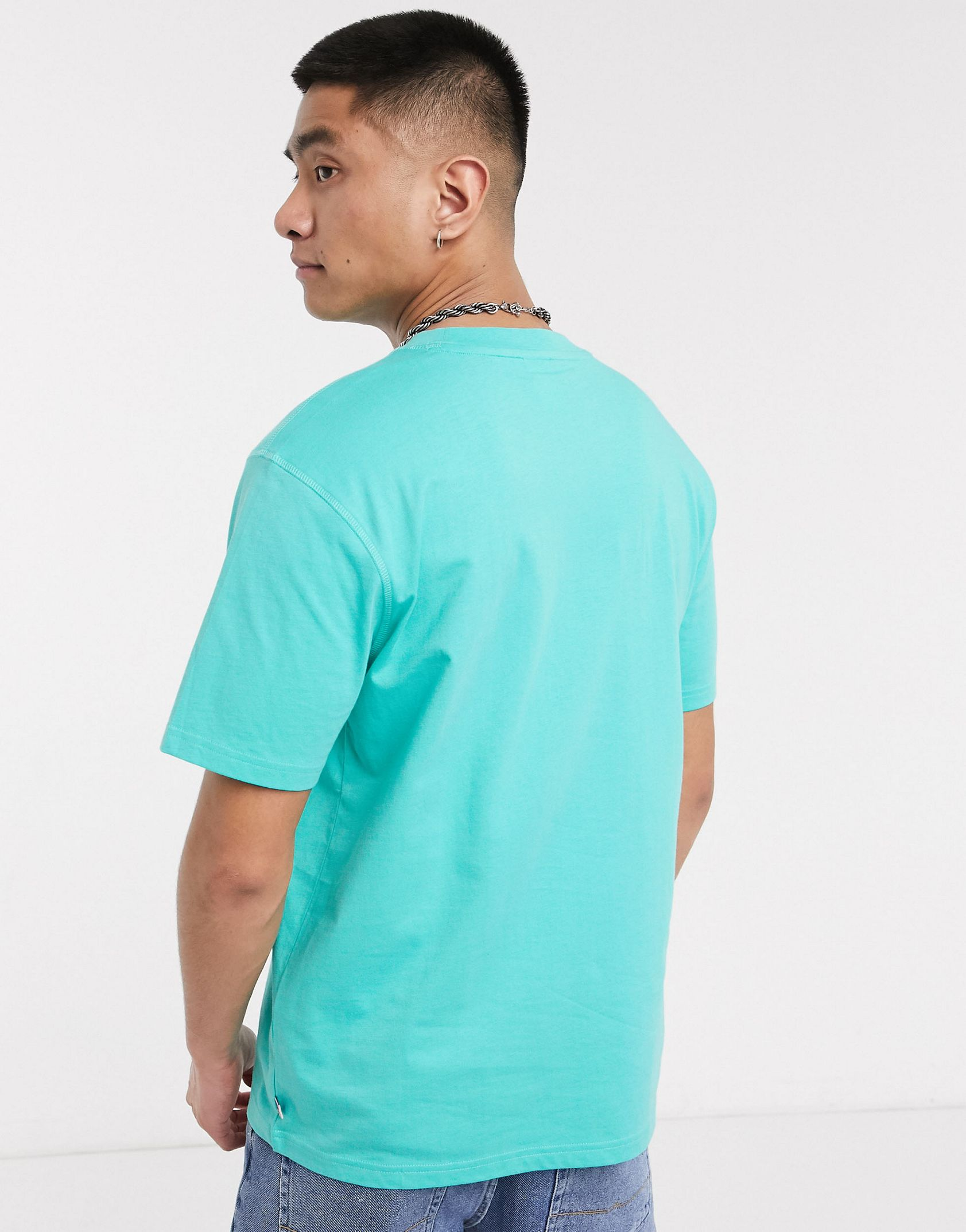 Russell Athletic Baseliner t-shirt with chest logo in turquoise - ASOS Price Checker