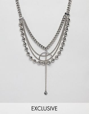 Sacred Hawk Heavy Chain Necklace