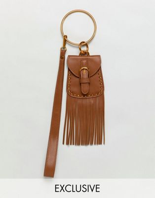 Sacred Hawk Mini Bag With Tassel