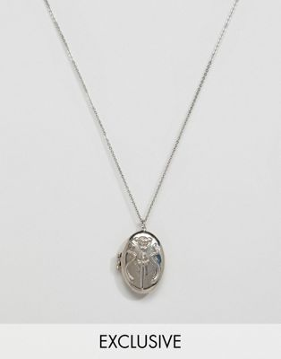 Sacred Hawk sword and snake locket necklace