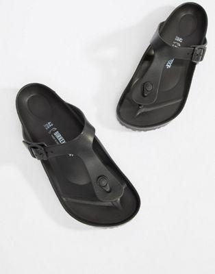 Sandalias negras de goma EVA Gizeh de Birkenstock