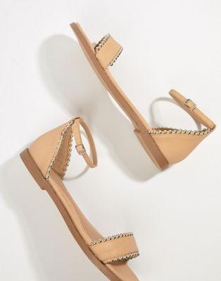 Sandalias planas con tachuelas de Missguided