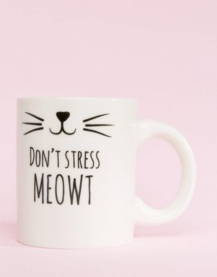 Sass & Belle Cat's Whiskers Don't Stress Meow Mug