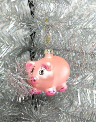 Sass & Belle Christmas miss piglet decoration