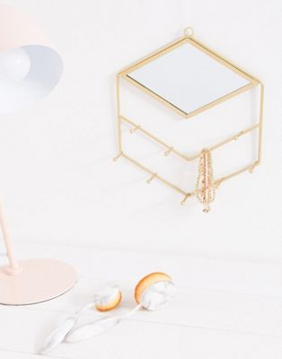 Image 1 of Sass & Belle gold mirror and jewellery hooks