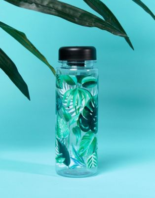 Sass & Belle leaf print water bottle 550ml