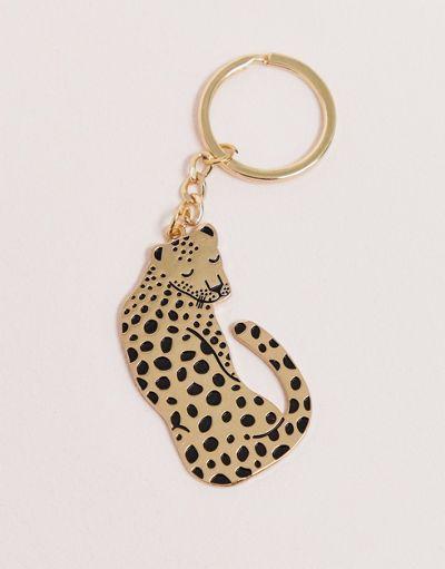 Sass & belle leopard keyring