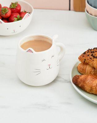 Sass & Belle sleepy cat 3d mug