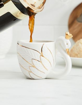 Image 1 of Sass & Belle small gold crown swan mug