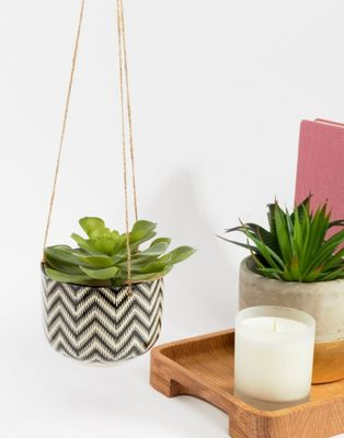Image 1 of Sass & Belle Zig Zag Hanging Planter