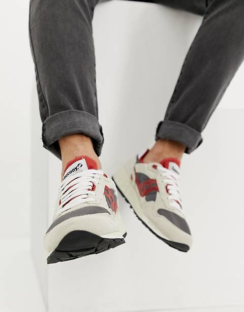 Saucony shadow 5000 vintage sneaker in off white