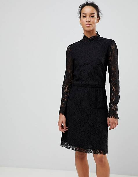 See U Soon Lace Dress with High Neck
