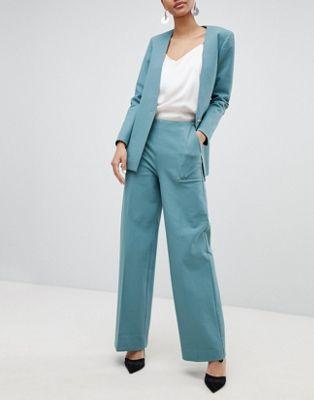 Selected Femme - Pantaloni a sigaretta anni '80