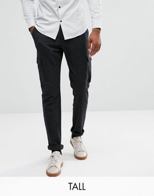 Selected Homme Cargo Pants With Fleck Detail