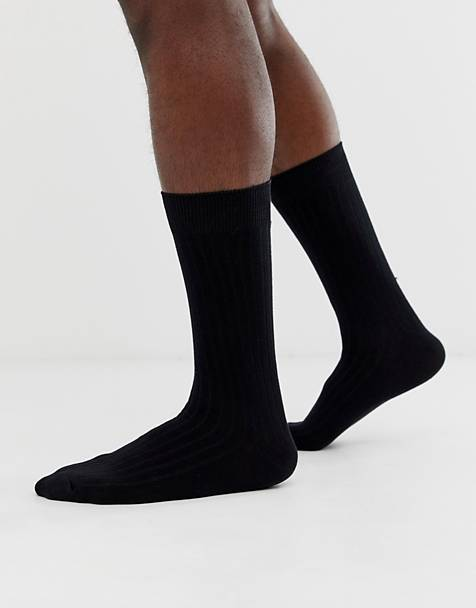 Selected Homme classic sock in black