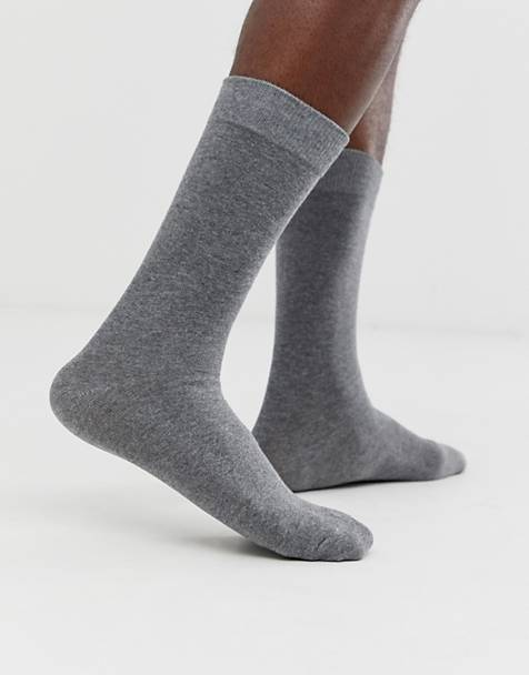 Selected Homme classic sock in gray marl