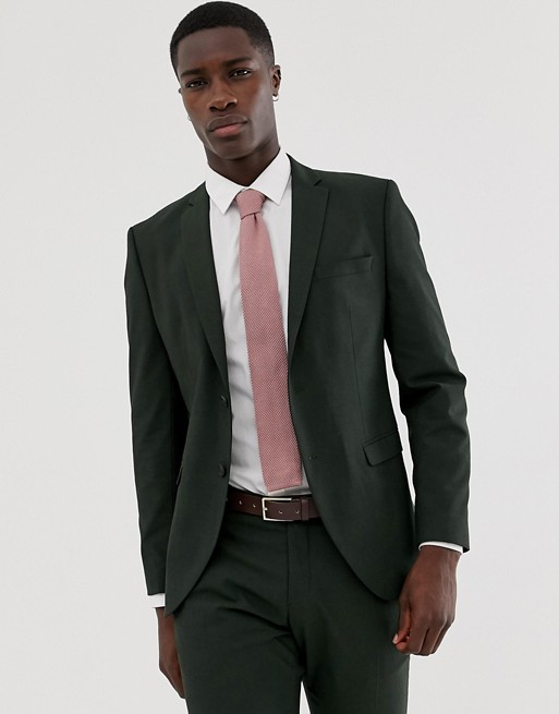 0d8a093bab2845 Selected Homme Dark Green Suit Jacket In Slim Fit | ASOS
