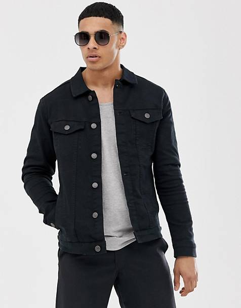 Selected Homme - Denim jack in zwart
