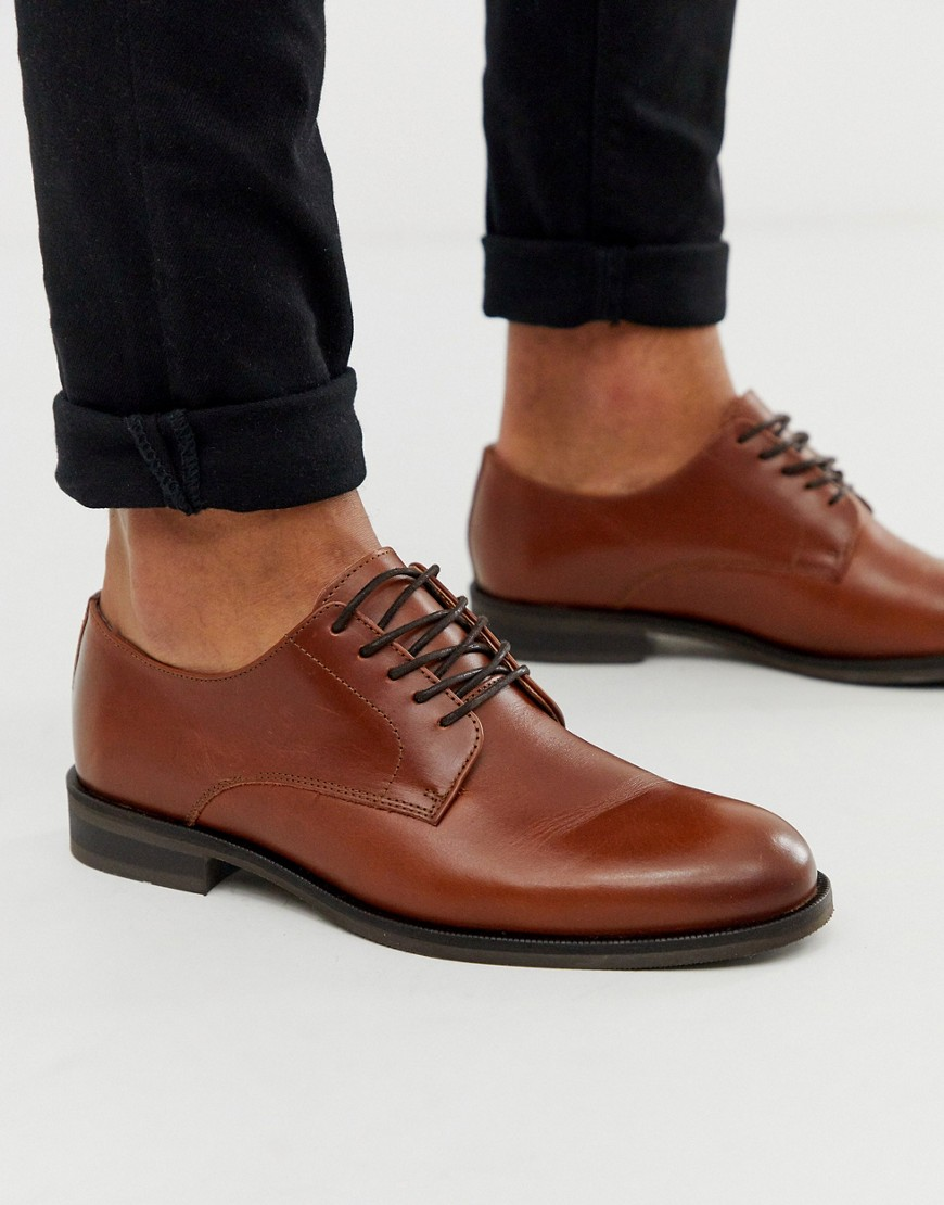 Selected Homme Derbyschoen in lichtbruin