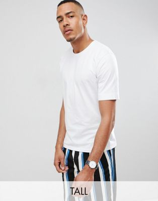 Selected Homme Drop Shoulder T-Shirt In Heavy Cotton