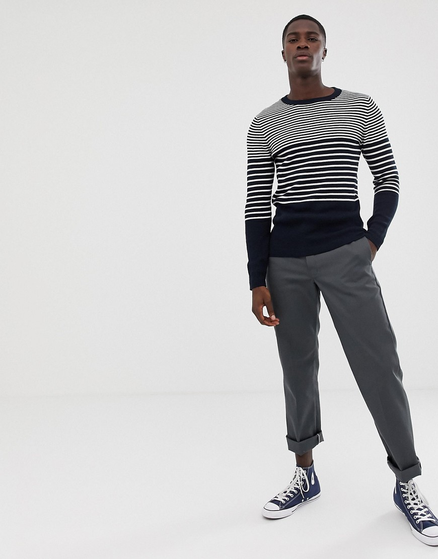 Selected Homme Knitted Stripe Sweater by Selected Homme