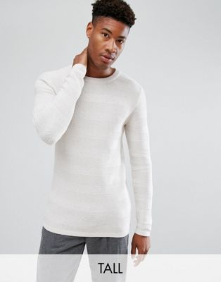 Image 1 of Selected Homme Knitted Sweater in 100% Cotton