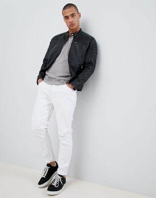 Selected Homme Leather Racer Jacket