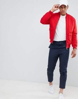Selected Homme Oversized Bomber Jacket