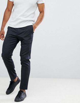 Selected Homme PANTS With Elasticated Waistband In Tapered Fit