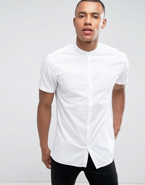 Grandad Shirts | Men's Grandad Collar Shirts | ASOS